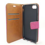 Apple iPhone 7 / 8 - Cloth Leather Book Style Wallet Case with Strap [Pro-Mobile]