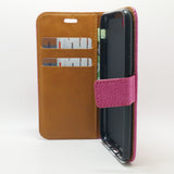 Apple iPhone 7 / 8 - Cloth Leather Book Style Wallet Case with Strap