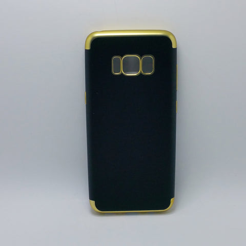 Samsung Galaxy S8 - Black Silicone Phone Case with Chrome Edge