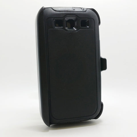 Samsung Galaxy S3 - Heavy Duty Fashion Defender Case with Rotating Belt Clip [Pro-Mobile]