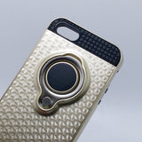 Apple iPhone 5 / 5S / SE - TanStar Magnet Enabled Case with Ring Kickstand