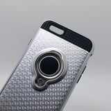 Apple iPhone 6 / 6S - TanStar Magnet Enabled Case with Ring Kickstand