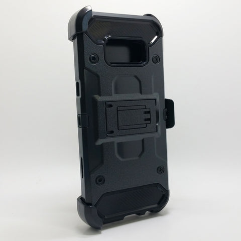 Samsung Galaxy S8 - Heavy Duty Transformer Case with Rotating Belt Clip [Pro-Mobile]