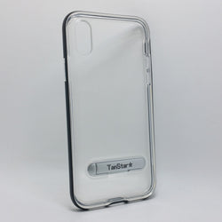 Apple iPhone X - TanStar Aluminum Bumper Frame Case with Kickstand