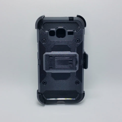 Samsung J3 - Heavy Duty Transformer Case with Rotating Belt Clip [Pro-Mobile]