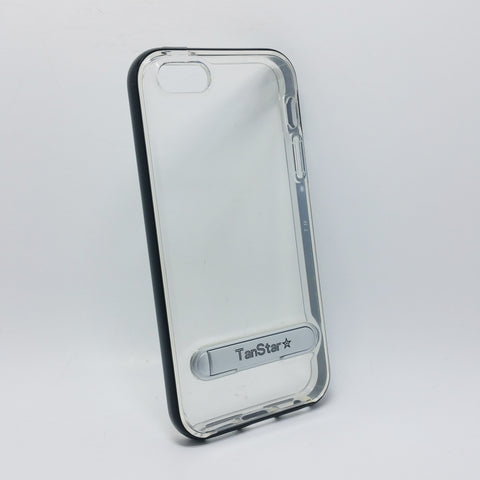 Apple iPhone 5 / 5S / SE - TanStar Aluminum Bumper Frame Case with Kickstand
