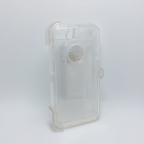 Apple iPhone 5G / 5S / 5SE - Transparent Heavy Duty Fashion Defender Case with Rotating Belt Clip [Pro-Mobile]
