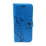 Samsung Galaxy A8 2018 - Butterfly Wallet Card Holder Flip Stand Case Cover with Strap [Pro-Mobile]