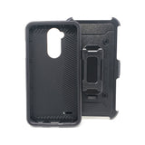 LG X 3 Power - Heavy Duty Transformer Case with Rotating Belt Clip [Pro-Mobile]