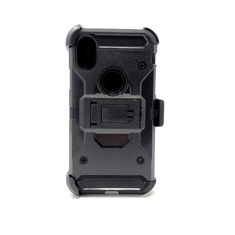Apple iPhone X - Heavy Duty Transformer Case with Rotating Belt Clip [Pro-Mobile]