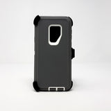Samsung Galaxy S9 Plus - Heavy Duty Fashion Defender Case with Rotating Belt Clip [Pro-Mobile]