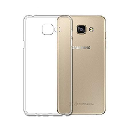 Samsung Galaxy A5 2016 - Clear Transparent Silicone Phone Case With Dust Plug [Pro-Mobile]