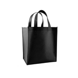 "Black Non Woven Reusable Tote Bag 11x12x4"" (pack of 25)"