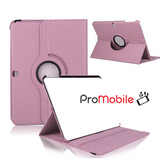 "Samsung Galaxy Tab 4 10.1"" - 360 Rotating Leather Stand Case Smart Cover [Pro-Mobile]"