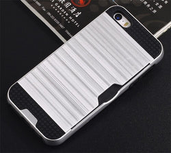 Apple iPhone 5 / 5S / SE - Shockproof Slim Wallet Credit Card Holder Case Cover [Pro-Mobile]