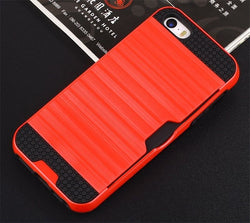 Apple iPhone 5G/5S/SE - Slim Sleek Case with Credit Card Holder Case