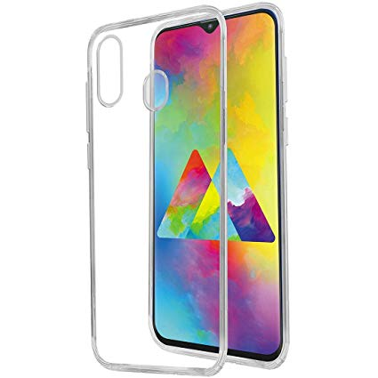 Samsung Galaxy A20S - Clear Transparent Silicone Phone Case With Dust Plug [Pro-Mobile]