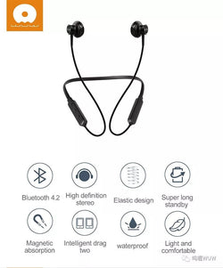 WUW Bluetooth Wireless Sports Stereo Earphone WUW-R40