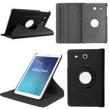 "Samsung Galaxy Tab E 9.6"" - 360 Rotating Leather Stand Case Smart Cover [Pro-Mobile]"