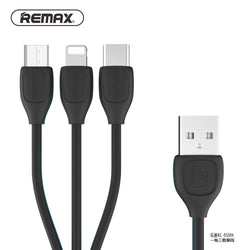 REMAX - LESU 3 in 1 ( Apple/Micro/Type C ) Charging Cable RC-050th