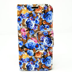 Apple iPhone 6+ / 6S+ / 7+ / 8 Plus - Floral Book Style Wallet Case