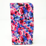 Apple iPhone X - Floral Book Style Wallet Case