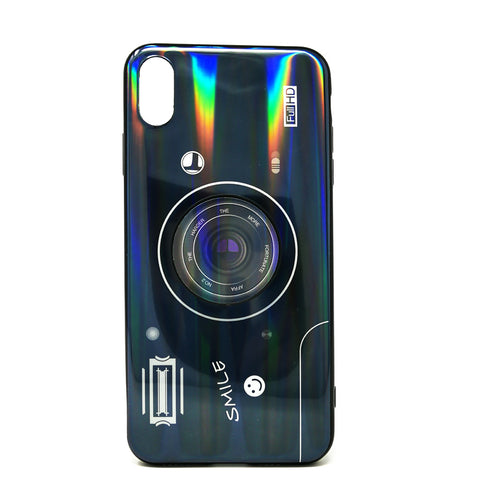 Apple iPhone XR - Holographic Camera Case with Pop Socket