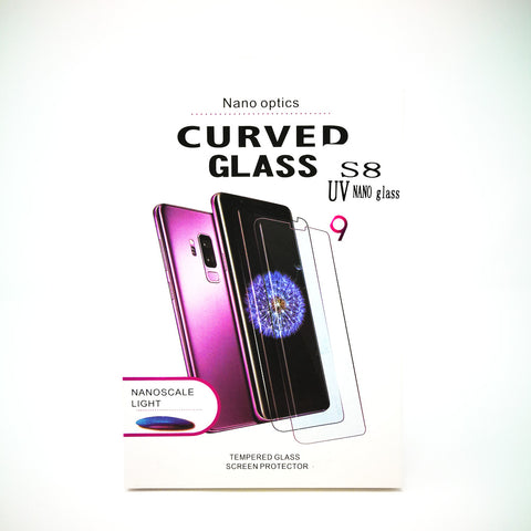 Samsung Galaxy S9 Plus - Full Glue UV Cured Curved Premium Real Tempered Glass Screen Protector Film [Pro-Mobile]