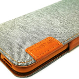 Apple iPhone XR - TanStar Fabric Wallet Case with Magnetic Closure