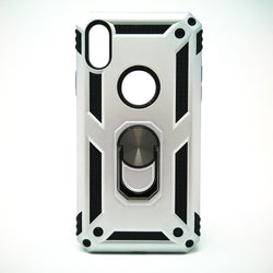 Apple iPhone X / XS - Transformer Magnet Enabled Case with Ring Kickstand