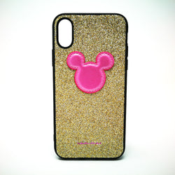 Apple iPhone X / XS - WUW Glitter Gold Mickey Case