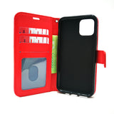 Apple iPhone 11 Pro Max - Magnetic Wallet Card Holder Flip Stand Case Cover with Strap [Pro-Mobile]
