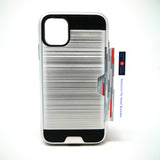 Apple iPhone 11 - Shockproof Slim Wallet Credit Card Holder Case Cover [Pro-Mobile]