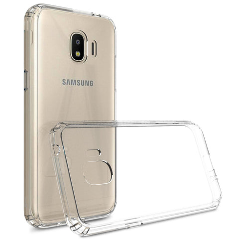 Samsung Galaxy J2 Pro - Clear Transparent Silicone Phone Case With Dust Plug [Pro-Mobile]