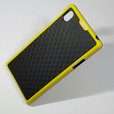 Sony Xperia Z1 - Plaid Pattern with Colored Bumper