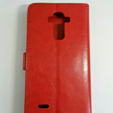 LG G4 Stylus / G Stylo / G4 Note- Book Style Wallet Case With Strap
