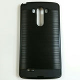 LG G3 - Shockproof Slim Dual Layer Brush Metal Case Cover [Pro-Mobile]
