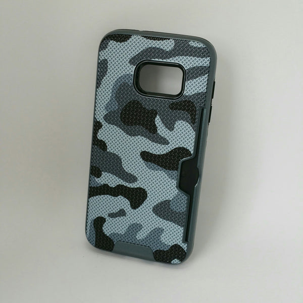 Samsung Galaxy S7 - Military Camouflage Credit Card Case