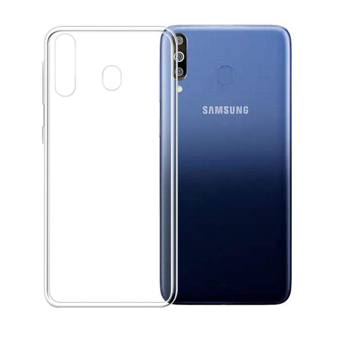 Samsung Galaxy M30 - Clear Transparent Silicone Phone Case With Dust Plug [Pro-Mobile]