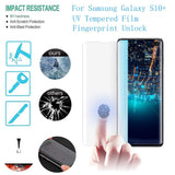 Samsung Galaxy S10 - Full Glue UV Cured Curved Premium Real Tempered Glass Screen Protector Film [Pro-Mobile]