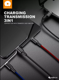 WUW 3-In-1 Braided Fast Charging and Data Cables WUW-X101