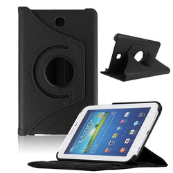 "Samsung Galaxy Tab 3 7"" - 360 Rotating Leather Stand Case Smart Cover [Pro-Mobile]"