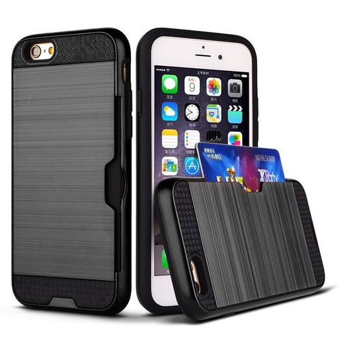 Apple iPhone 6G / 6S - Slim Sleek Case with Credit Card Holder Case