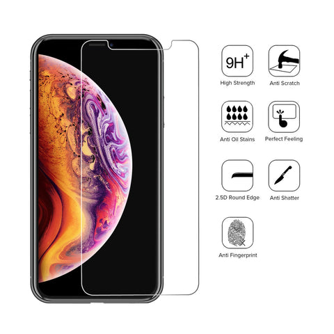 Apple iPhone XR / 11 / 12 / 12 Pro - Premium Real Tempered Glass Screen Protector Film [Pro-Mobile]