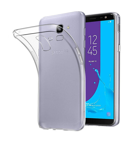 Samsung Galaxy J6 (2018) - Clear Transparent Silicone Phone Case With Dust Plug [Pro-Mobile]