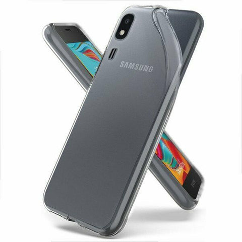 Samsung Galaxy A2 Core - Clear Transparent Silicone Phone Case With Dust Plug [Pro-Mobile]