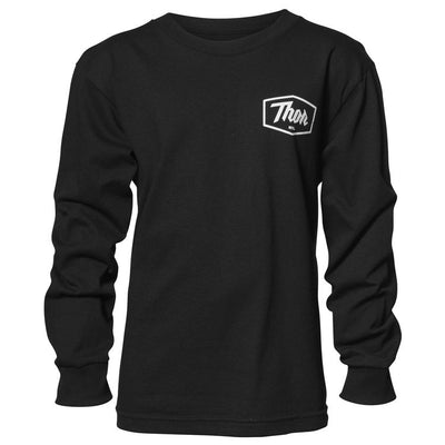 Thor Youth Script Long Sleeve T-Shirt - PeakBoys