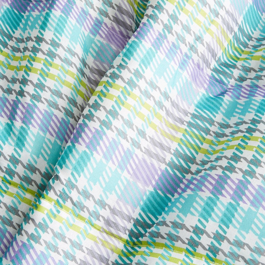 Plaid Printed Down-Alt Ultra Lightweight Comforter