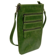 Harper Crossbody Vegan Pouch - Leaf
