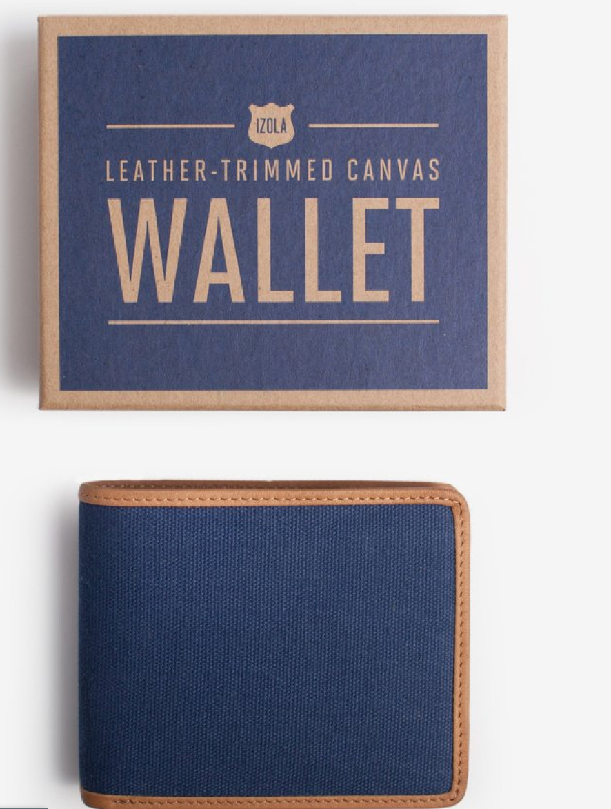 Navy Canvas Wallet